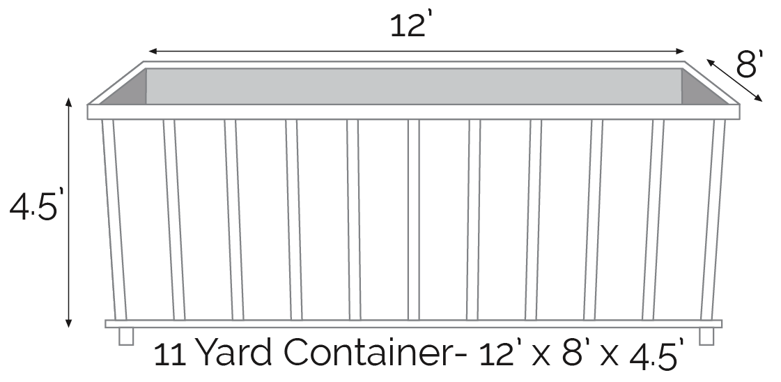 11 yard roll off dumpster
