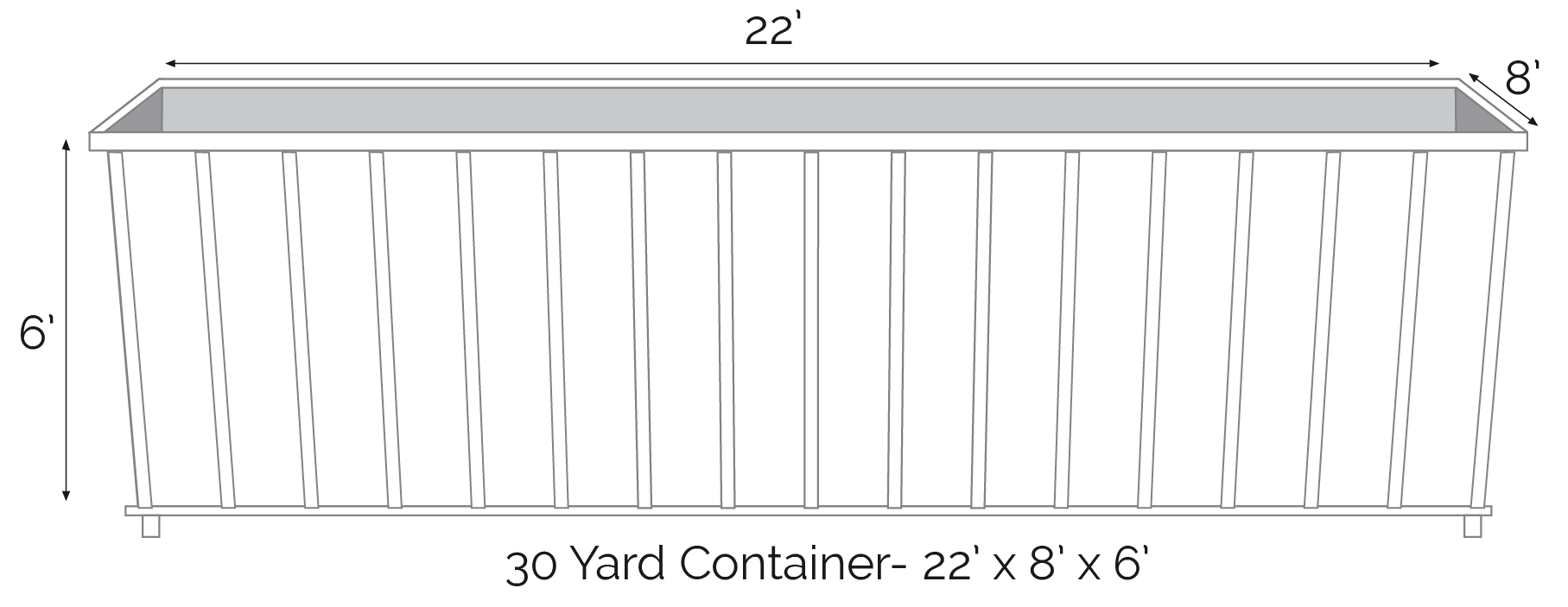 30 yard roll off dumpster